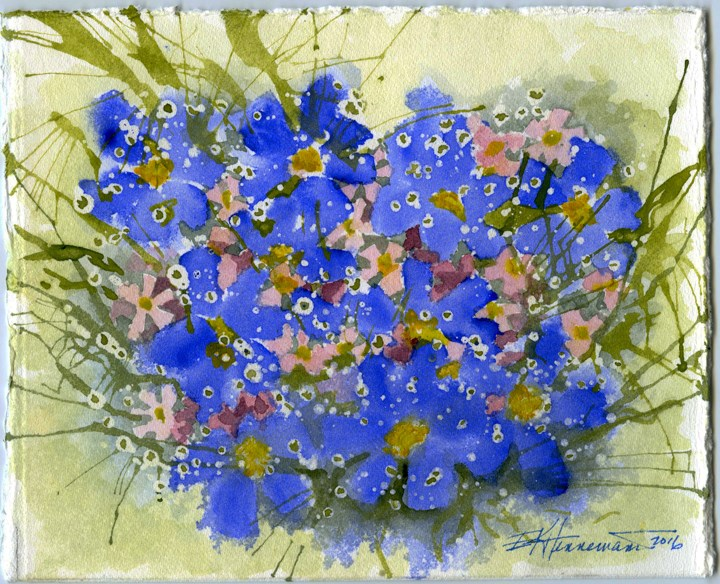 """Forget Me Not"" original fine art by Eileen Hennemann"