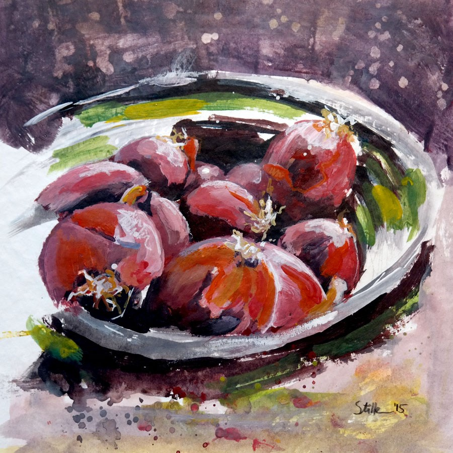 """1492 Onion Bowl"" original fine art by Dietmar Stiller"