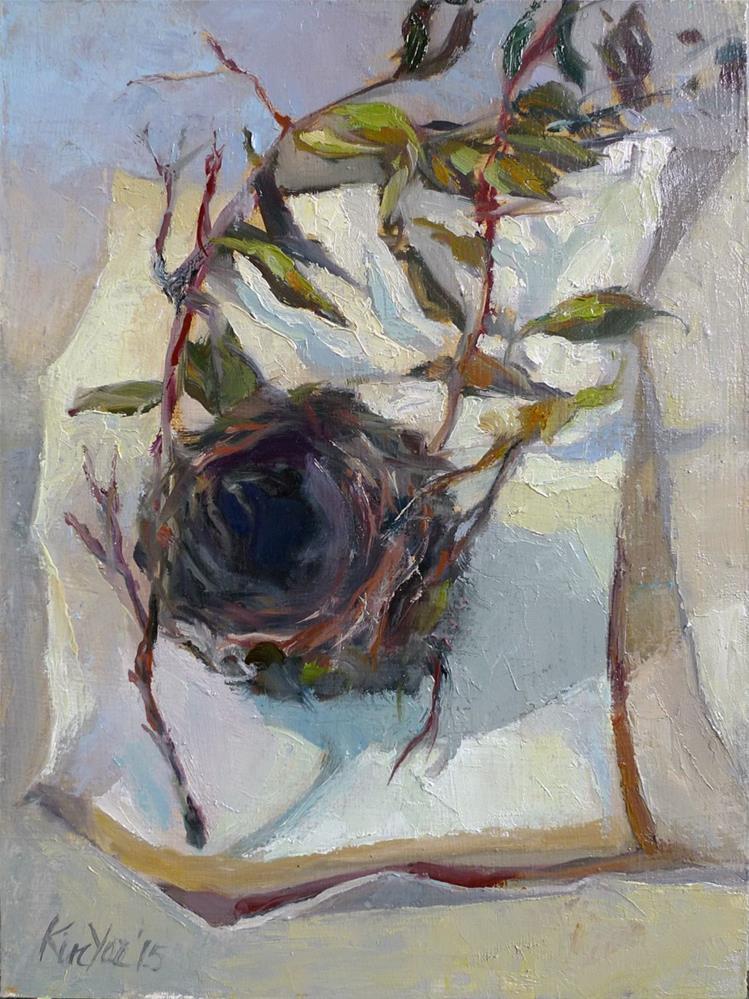 """""""Kerrie's Birdnest"""" original fine art by Myriam Kin-Yee"""