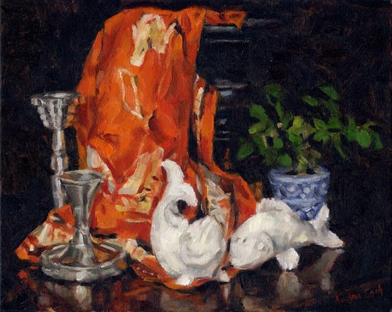 """""""Fish Salt and Pepper Shakers"""" original fine art by Audra Esch"""