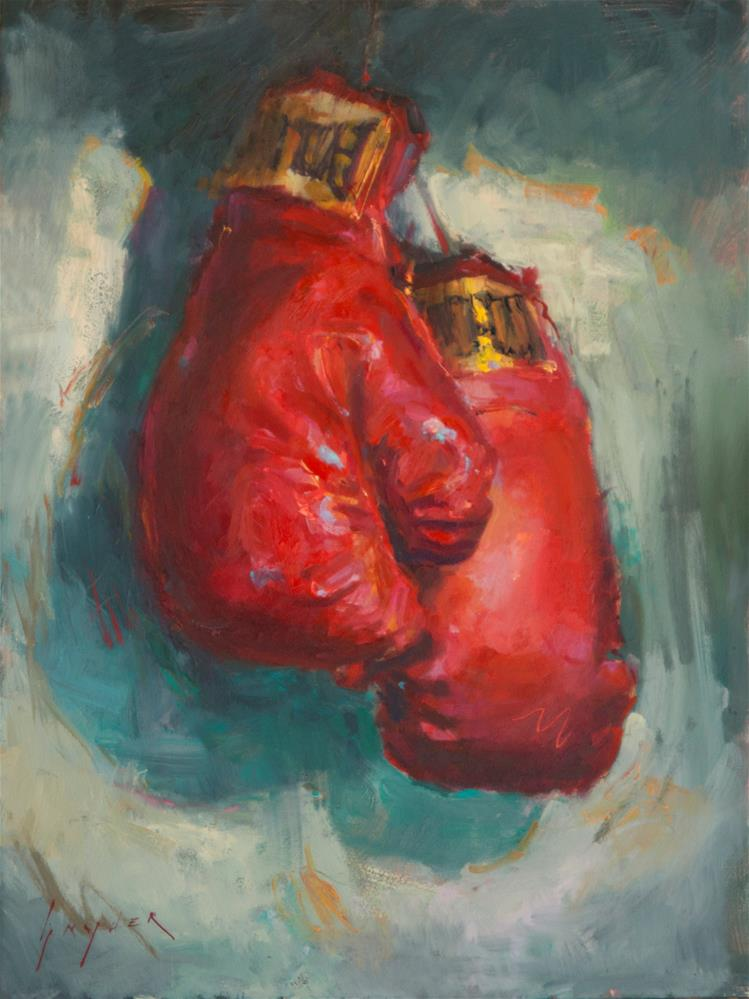 """Sparring Red"" original fine art by Julie Snyder"