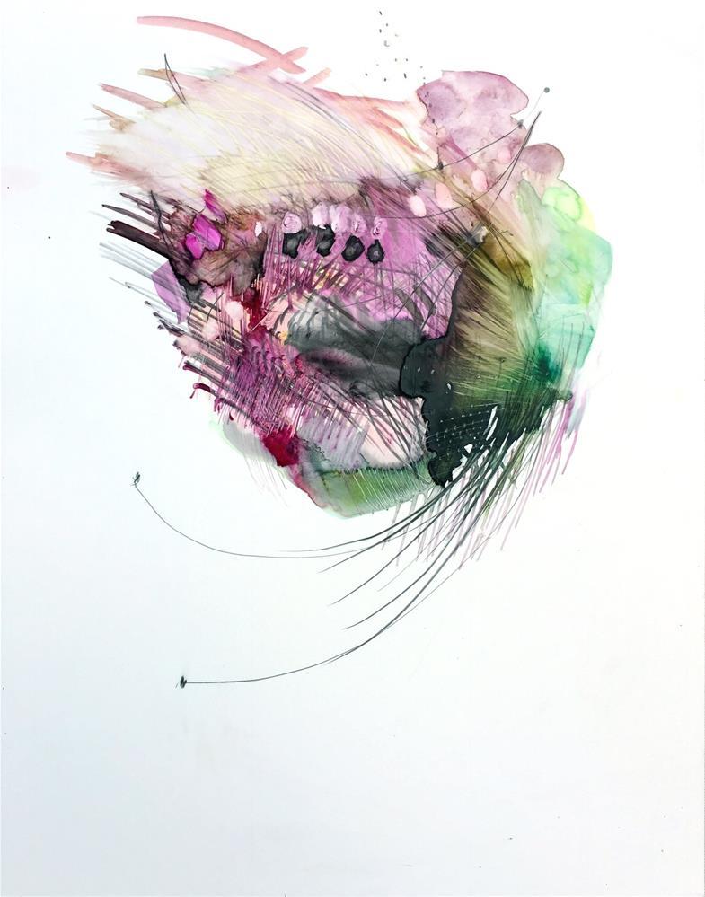"""""""Feathery I"""" original fine art by Gretchen Warsen"""