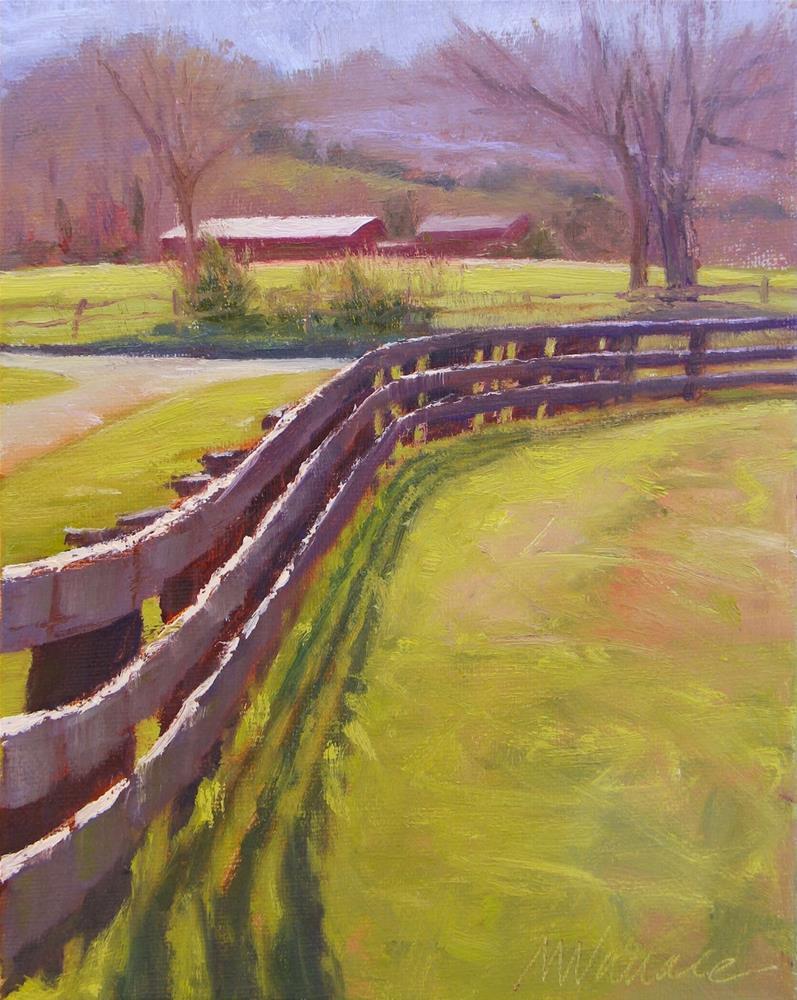 """""""#33 Follow the fence"""" original fine art by Nancy Wallace"""