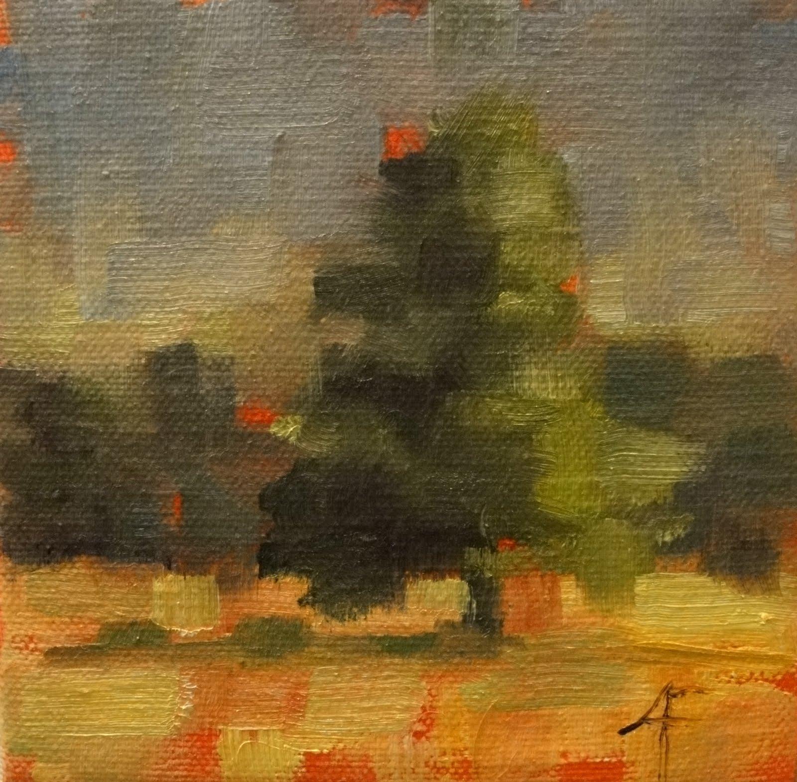 """Tree Study, Crabtree Forest 5x5"" original fine art by Ann Feldman"