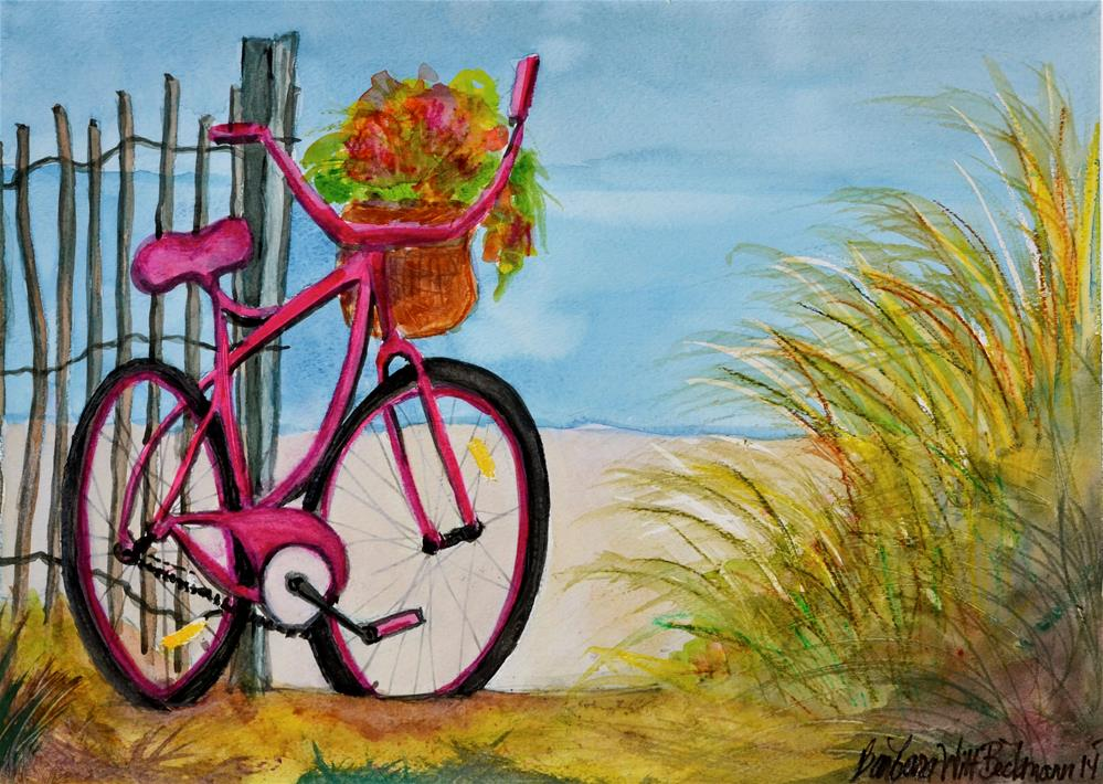 """Bicycle Beach Bound"" original fine art by Barbara Beckmann"
