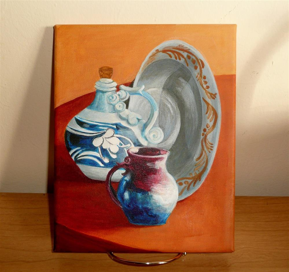 """Patty's Pottery"" original fine art by Pratima Patel"