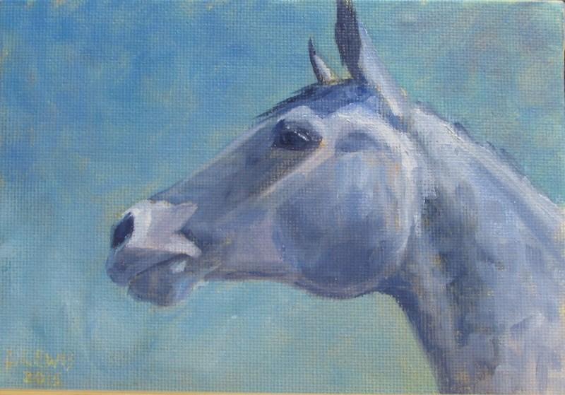 """""""Dapple Mare"""" original fine art by Christine Lewis"""