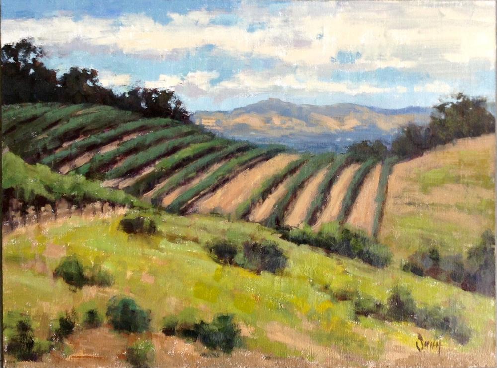 """""""Vineyard Vista"""" original fine art by Barbie Smith"""