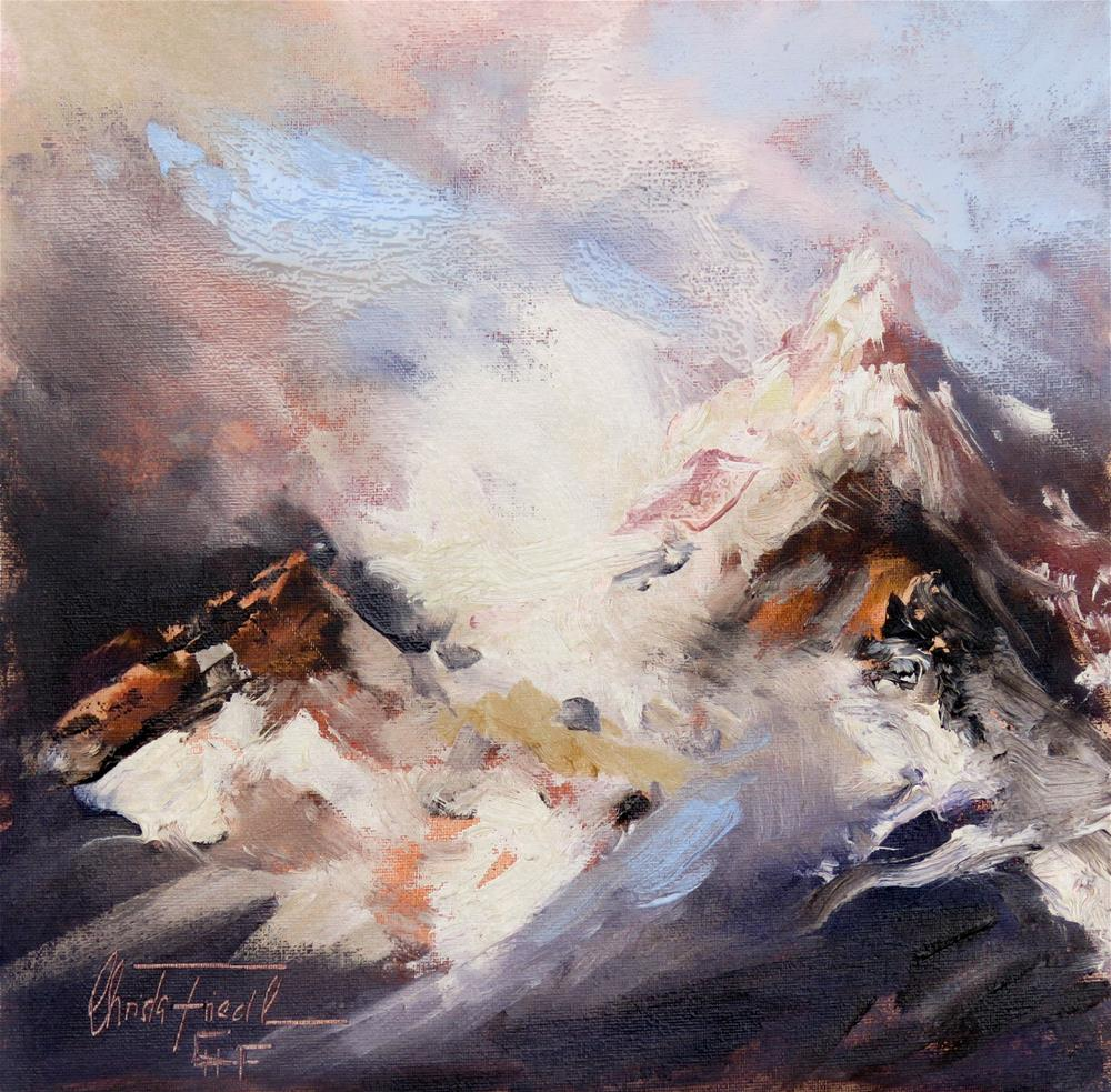 """First snow in the Alps"" original fine art by Christa Friedl"