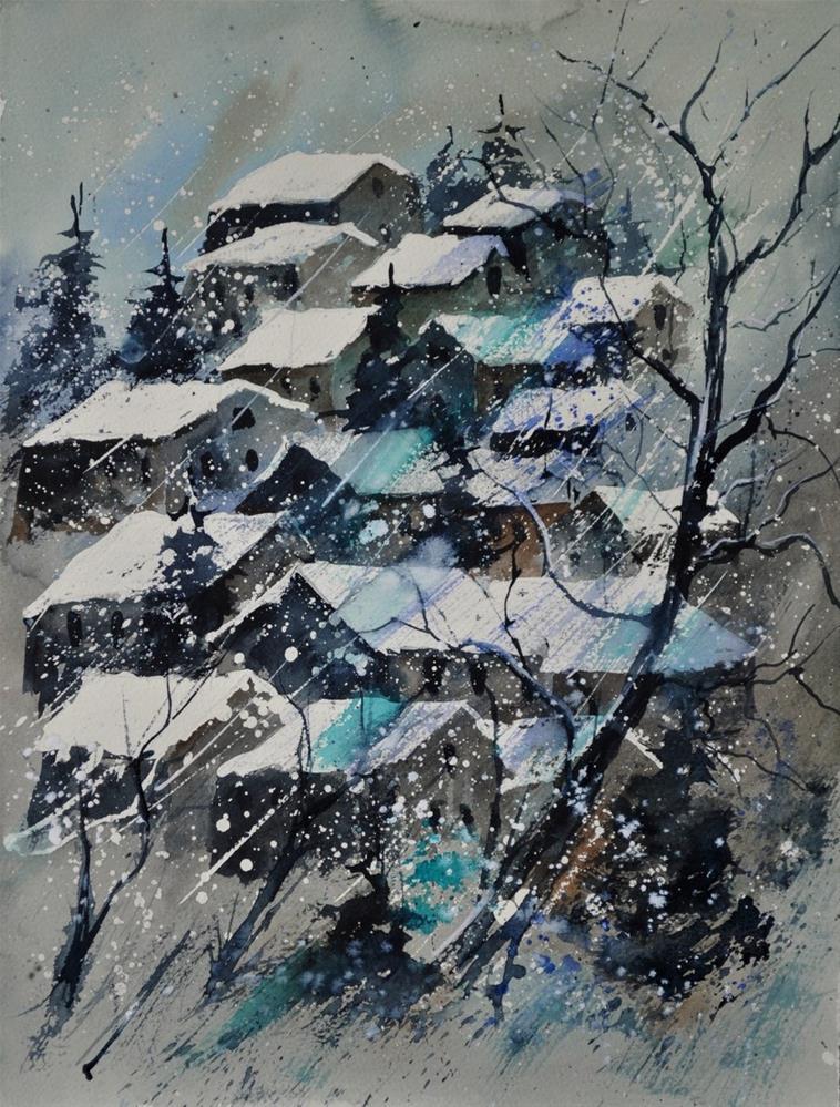 """""""watercolor 4121132"""" original fine art by Pol Ledent"""