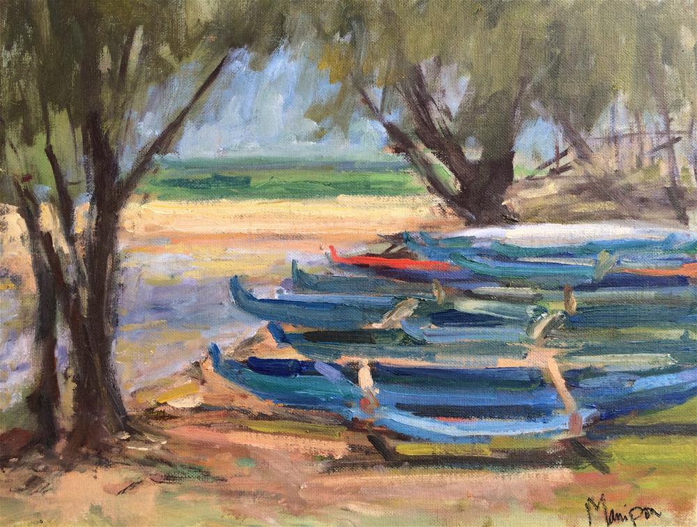 """Kailua Canoes"" original fine art by Yvonne Manipon"