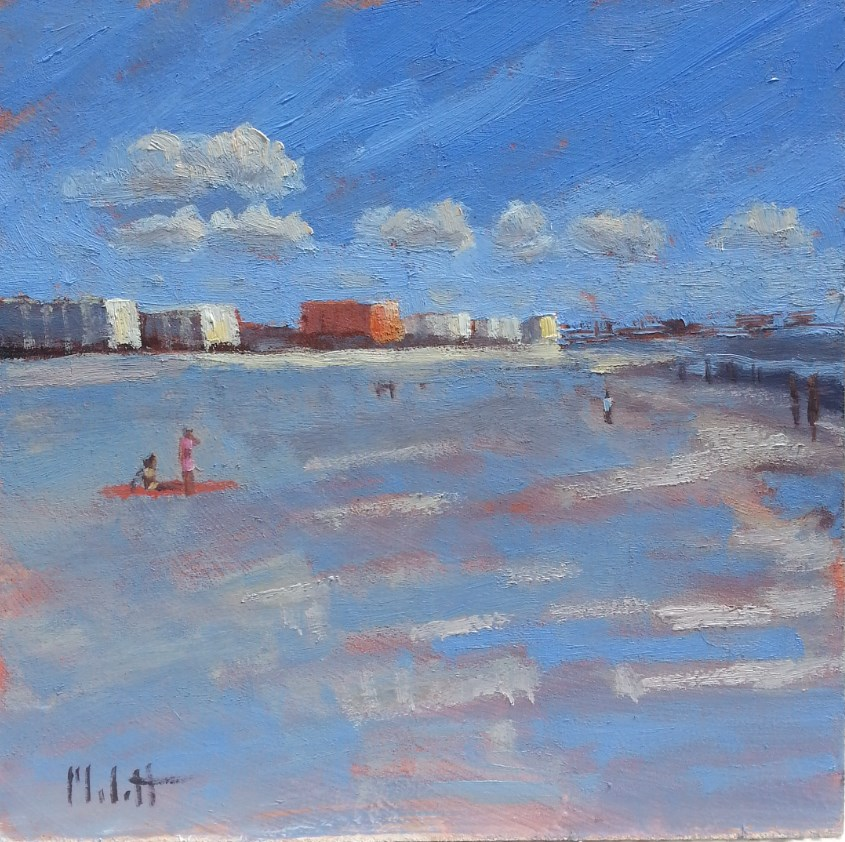 """Pier 60 Clearwater Beach Painting"" original fine art by Heidi Malott"