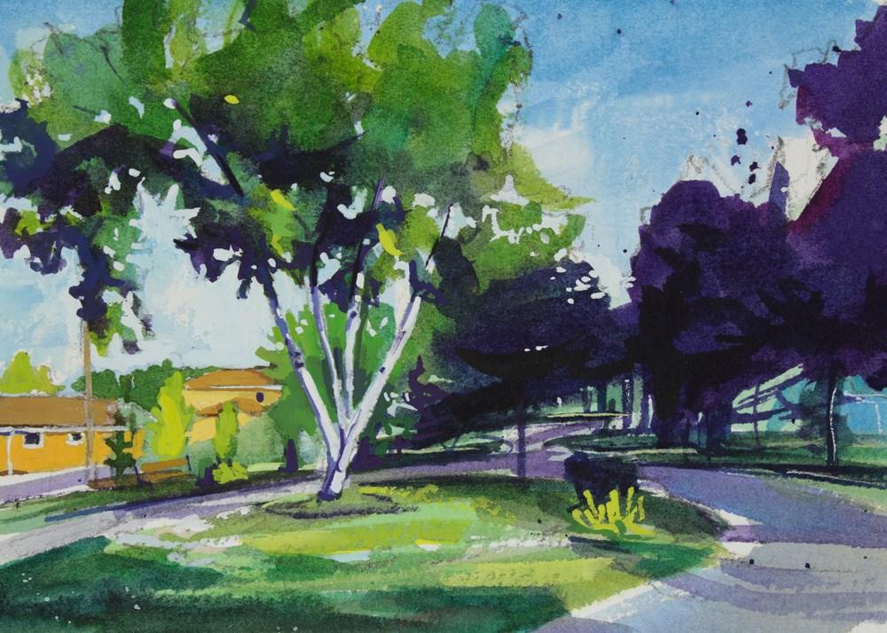 """""""Williamsville Path"""" original fine art by Chris  Breier"""