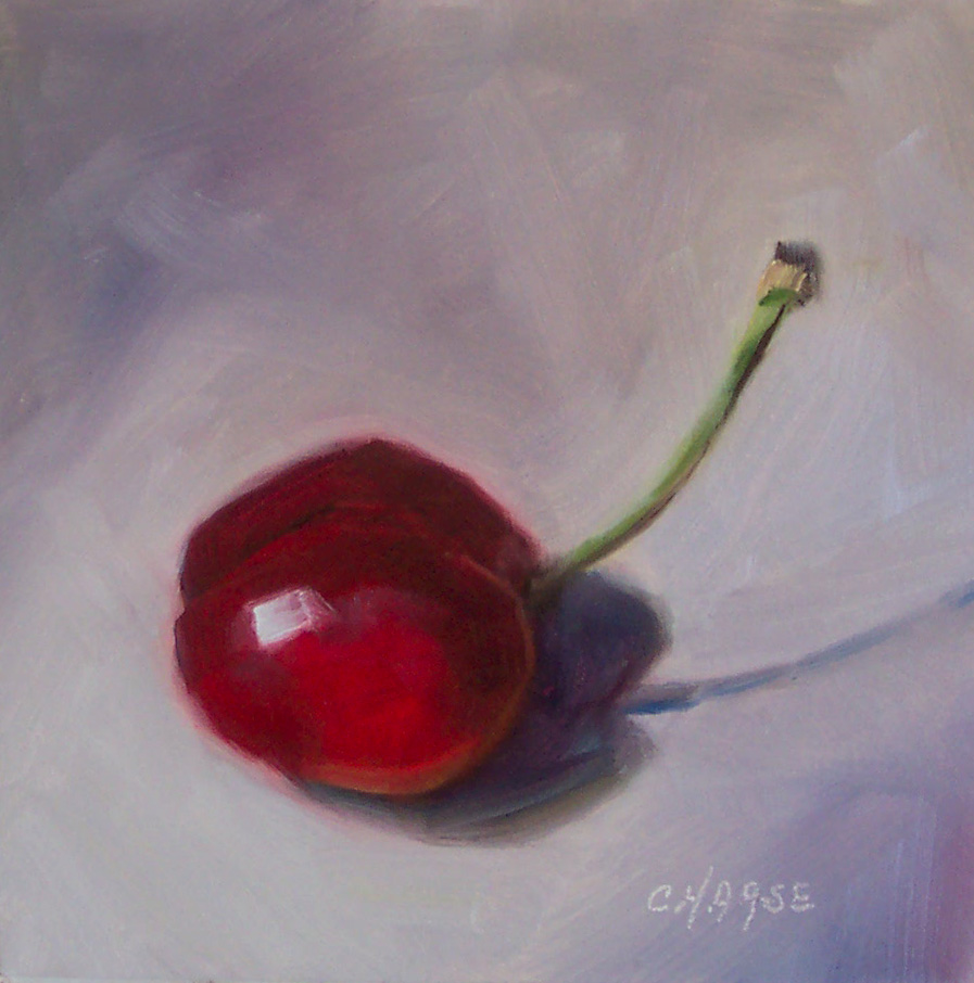 """Chubby Cherry"" original fine art by Cindy Haase"