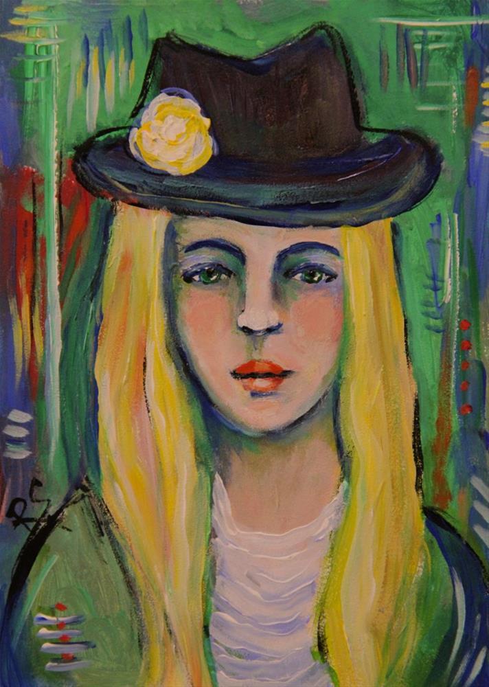 """Ashley"" original fine art by Roberta Schmidt"