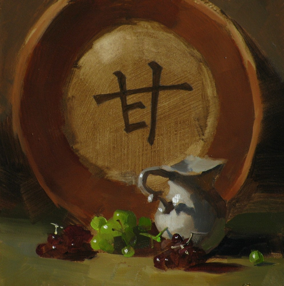 """""Sweet Moment"" original fine art by Qiang Huang"