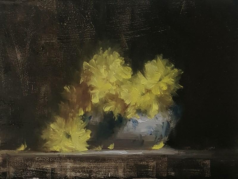 """Tureen Bowl of Flowers"" original fine art by Neil Carroll"