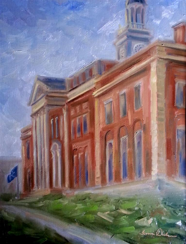 """Historic Courthouse"" original fine art by Tammie Dickerson"