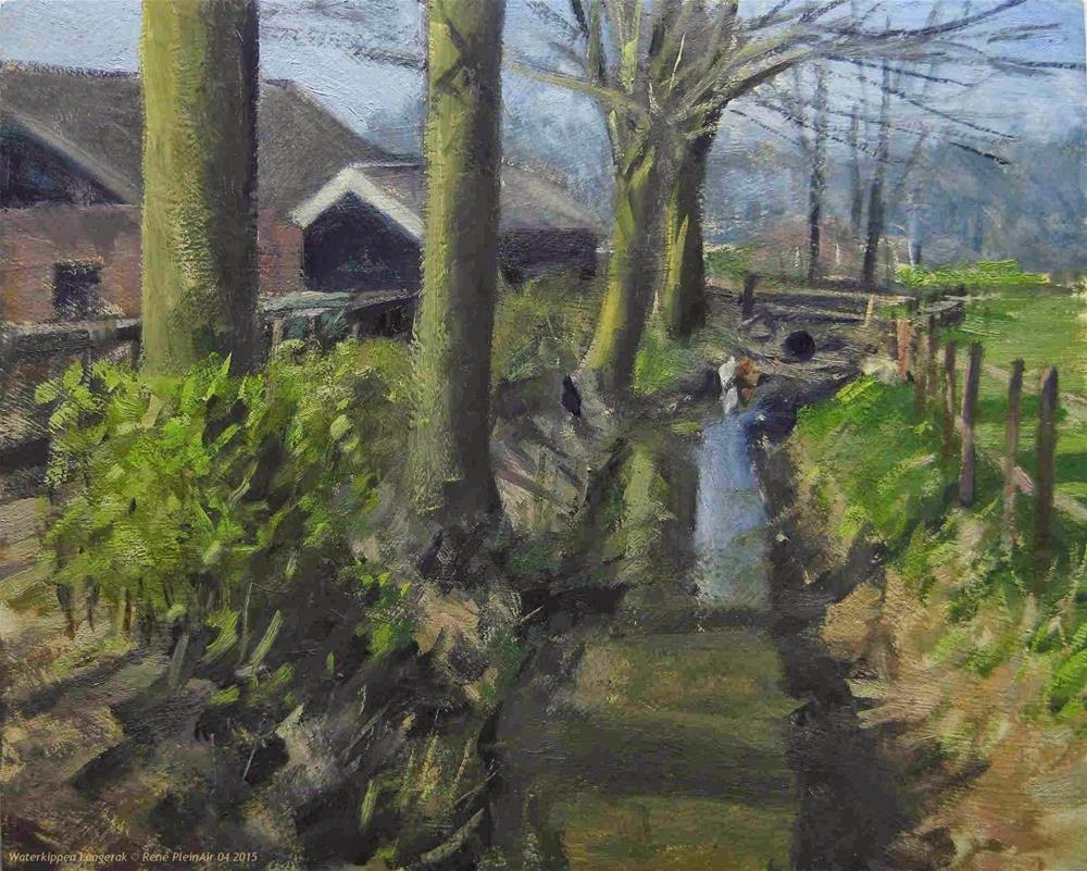 """Waterchickens. Langerak, The Netherlands."" original fine art by René PleinAir"