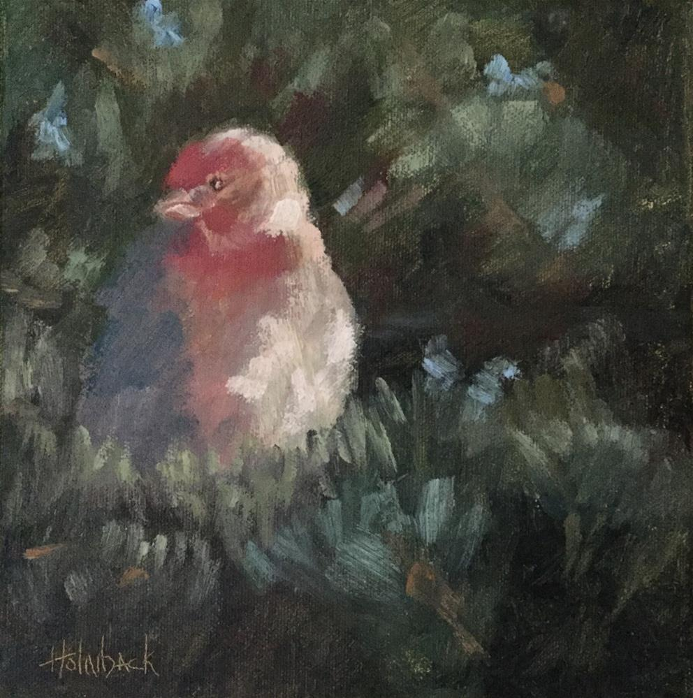 """Purple Finch"" original fine art by Pam Holnback"
