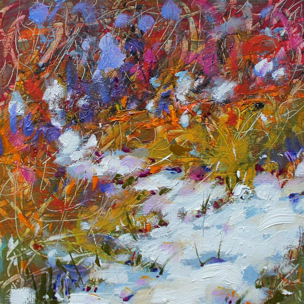 """Snow Path       30 paintings in 30 days. Day 6."" original fine art by Ken Devine"