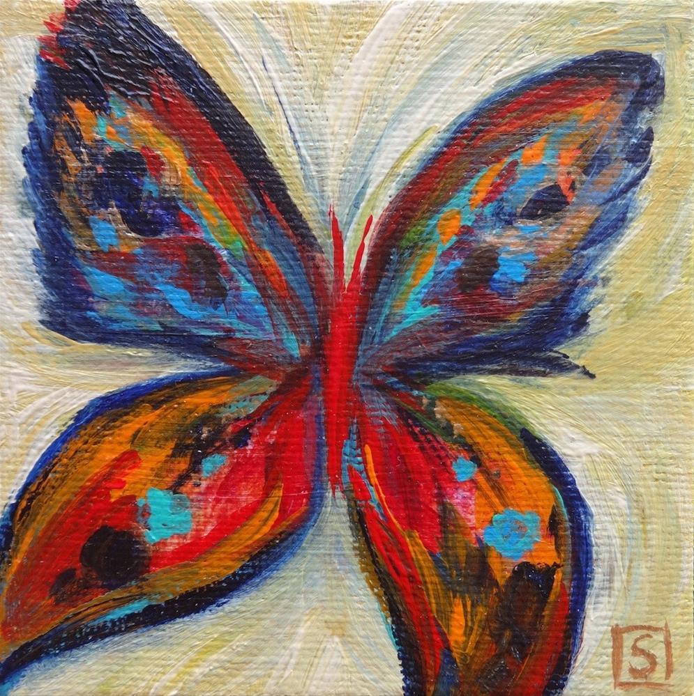 """""""4028 - Framed - Naples Butterfly"""" original fine art by Sea Dean"""