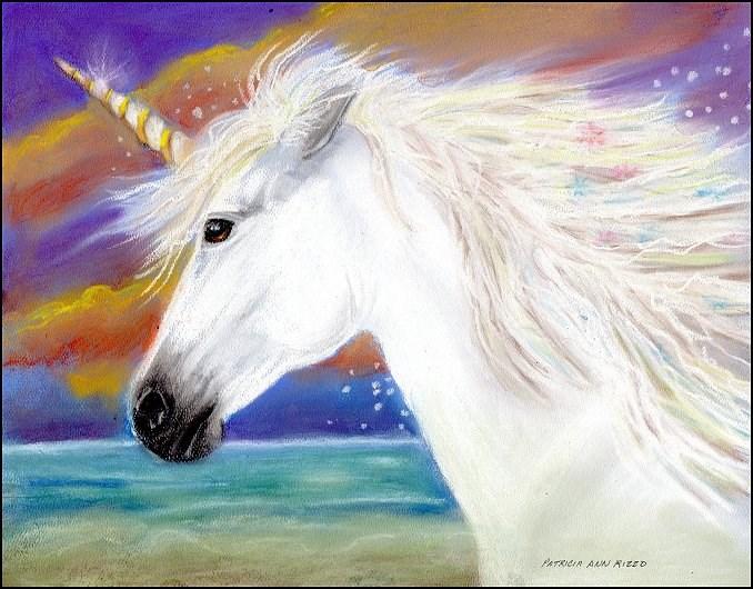 """""""Unicorn"""" original fine art by Patricia Ann Rizzo"""