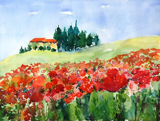 """Under the Tuscan Sun"" original fine art by Lisa Fu"