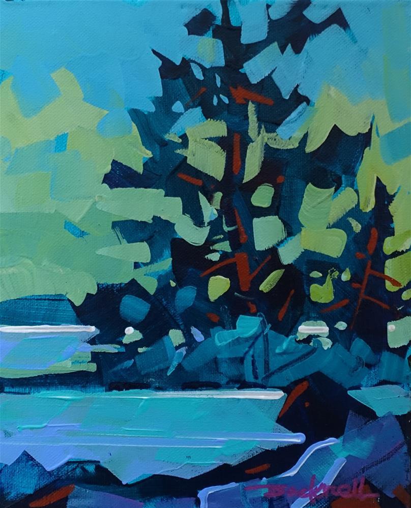 """Shoreline Blue"" original fine art by Brian Buckrell"