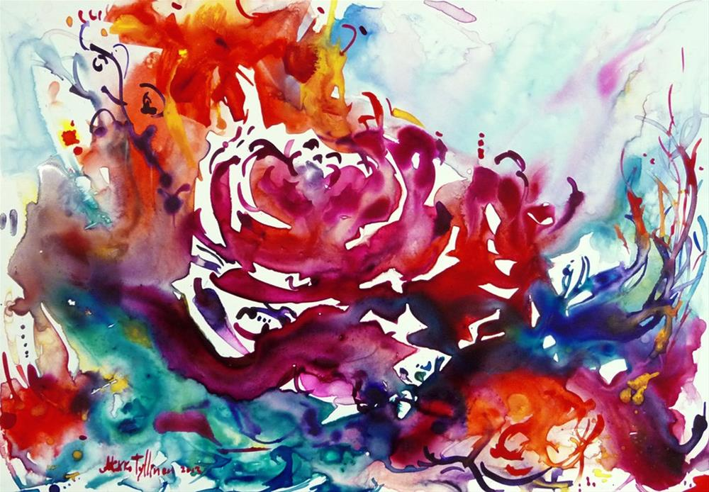 """Flower under water"" original fine art by Mikko Tyllinen"