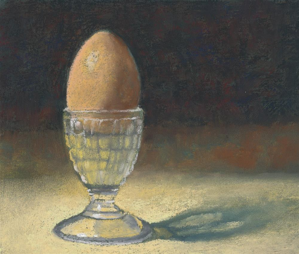 """The Glass Eggcup"" original fine art by Christine Derrick"