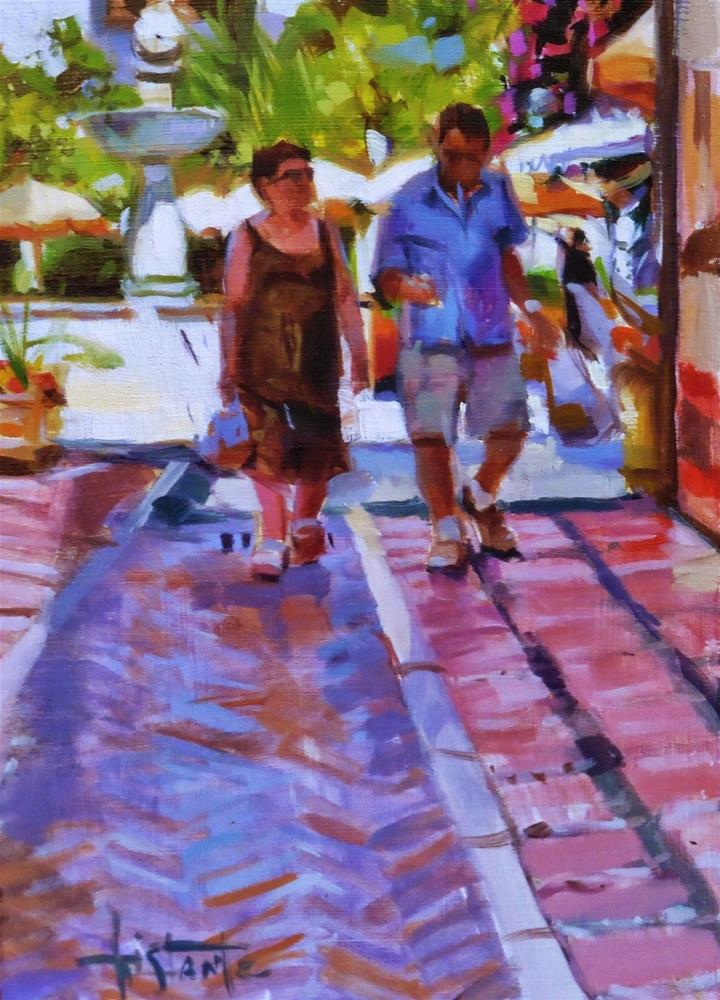 """Walktrough"" original fine art by Víctor Tristante"
