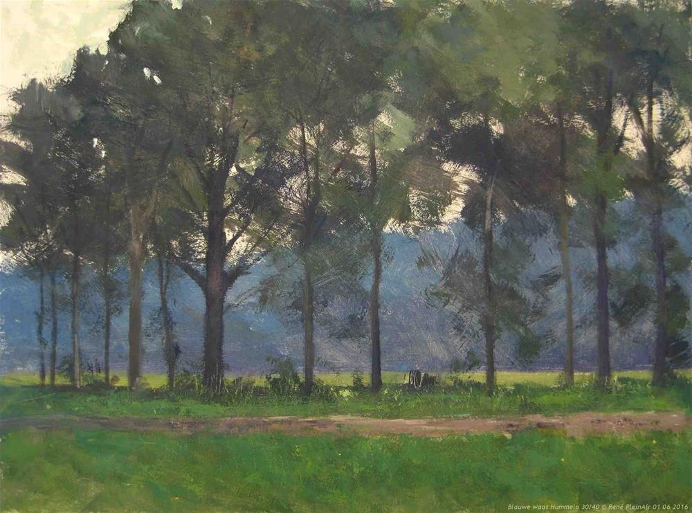 """""""Blue haze Hummelo, The Netherlands"""" original fine art by René PleinAir"""