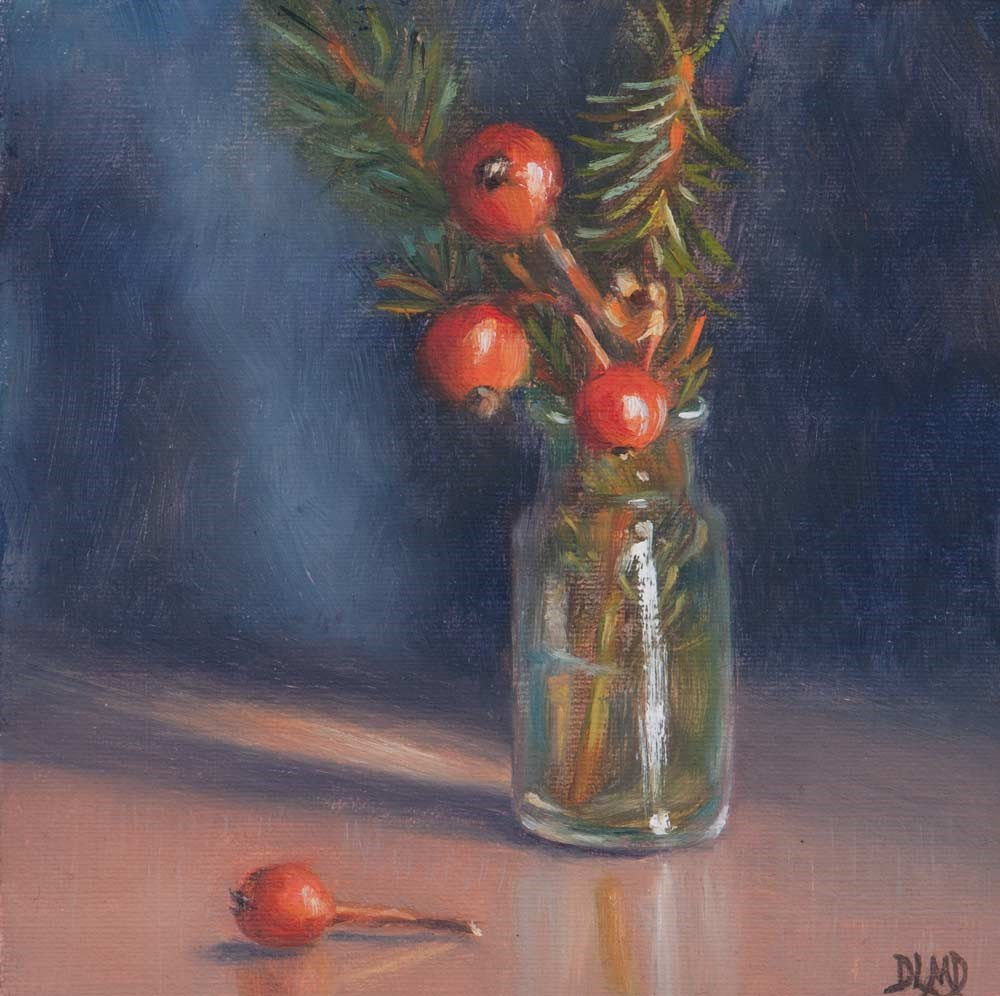 """Winter Offerings"" original fine art by Debbie Lamey-Macdonald"