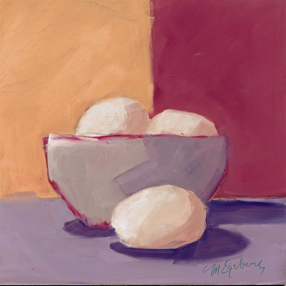 """Three Good Eggs"" original fine art by Mitch Egeberg"