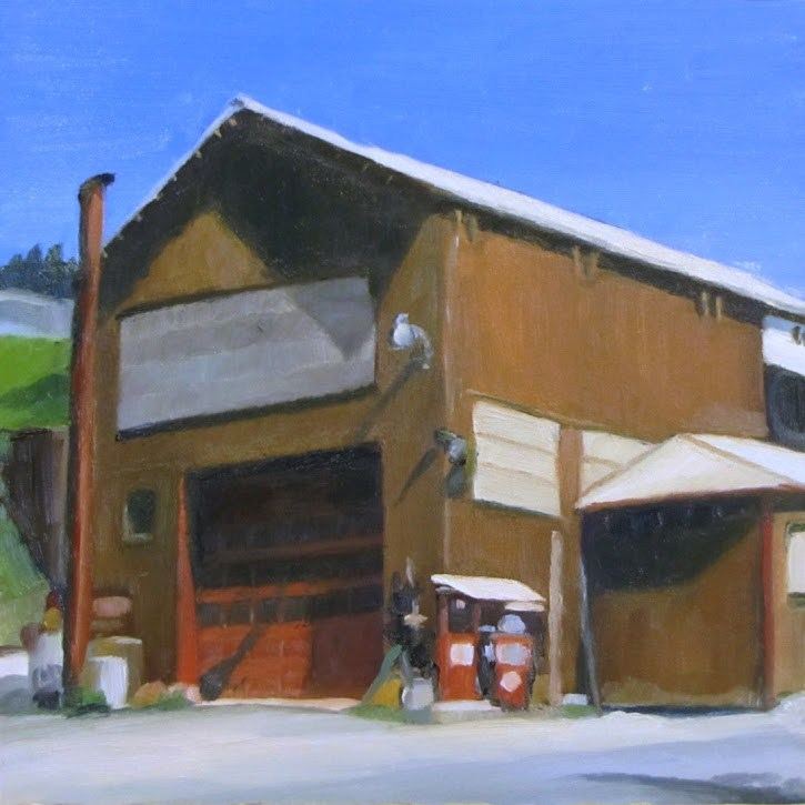"""Truck shop"" original fine art by Nora Bergman"