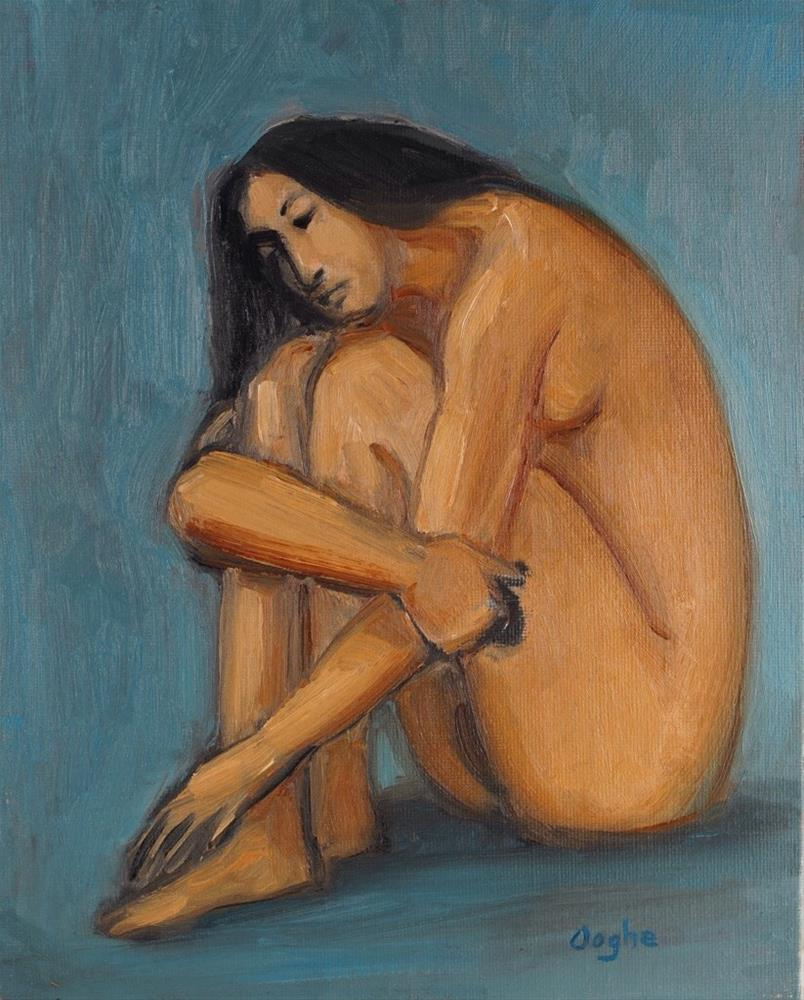 """Seated Woman"" original fine art by Angela Ooghe"