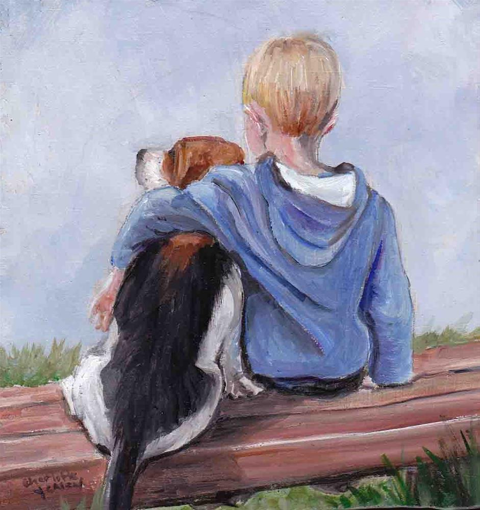 """Boy and his Beagle"" original fine art by Charlotte Yealey"