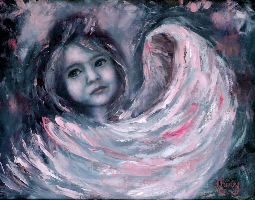 """Little Angel of Protection"" original fine art by Kelly Berkey"