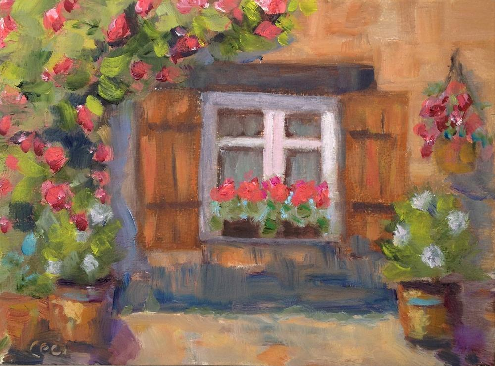 """Sunshine On My Window Sill"" original fine art by Ceci Lam"