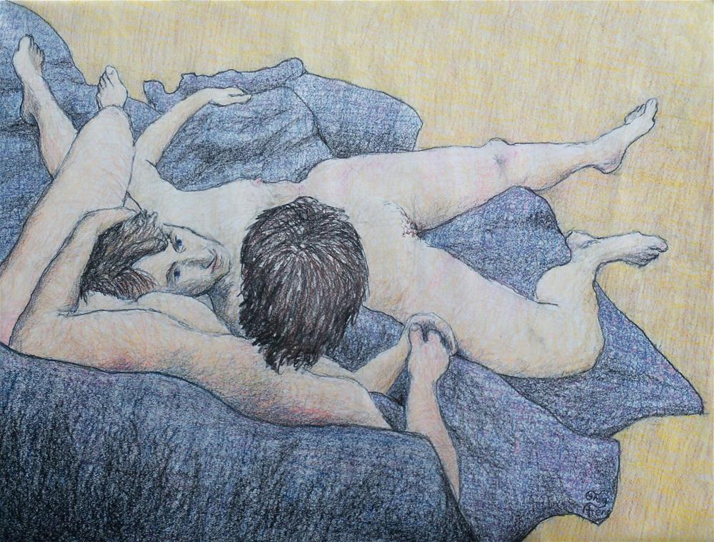 """Gitena & Devaprim"" original fine art by Greg Arens"