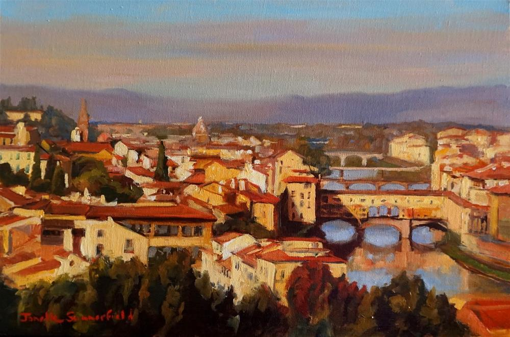 """View of the Arno"" original fine art by Jonelle Summerfield"