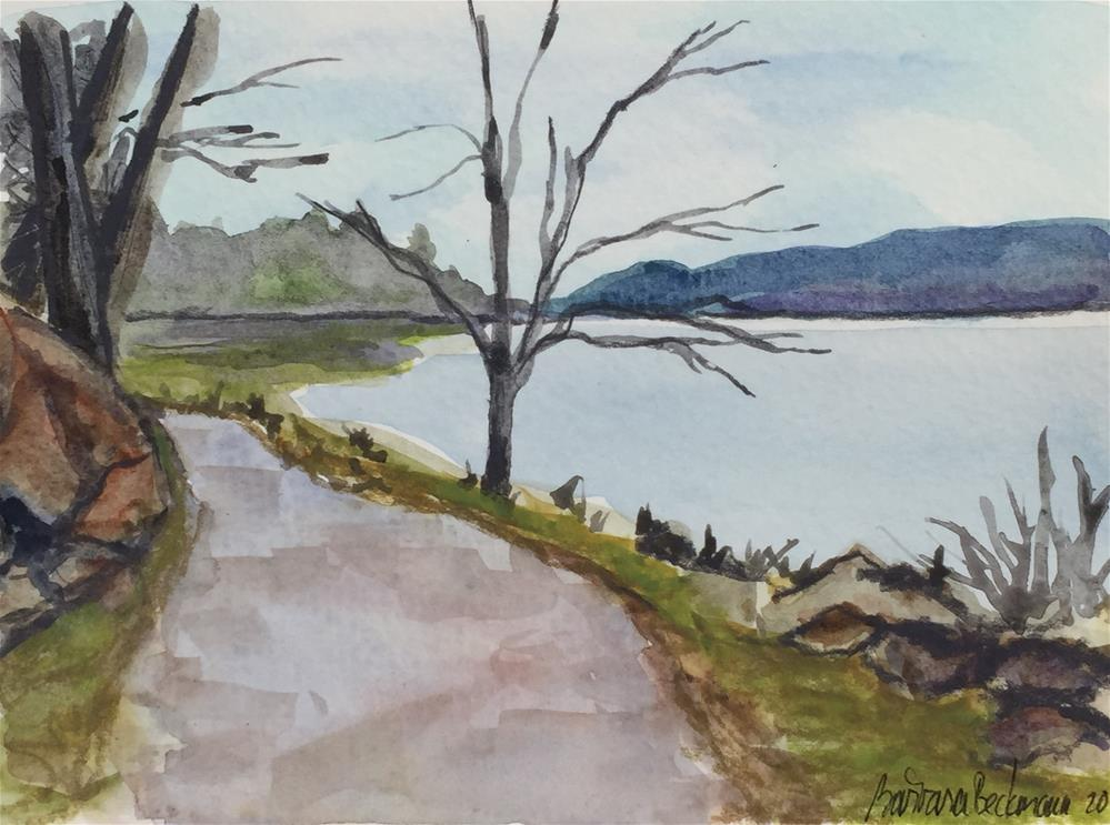 """Hudson River"" original fine art by Barbara Beckmann"