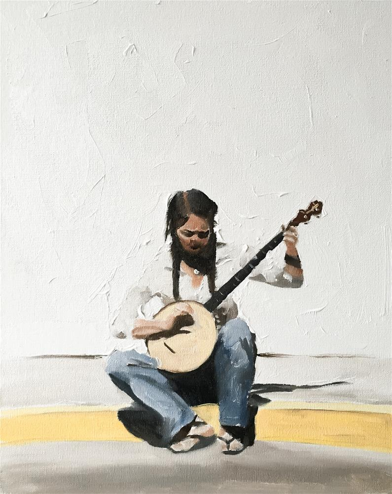 """Banjo Betty"" original fine art by James Coates"