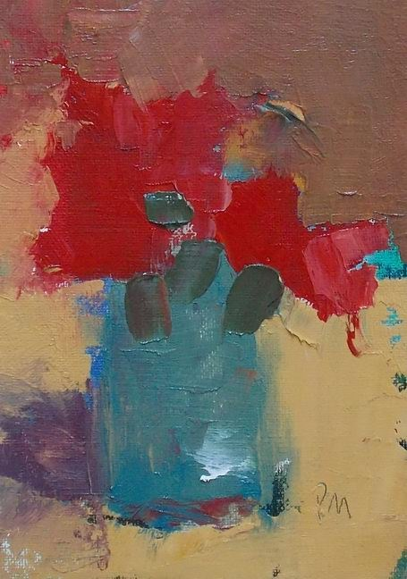 """Red Flowers"" original fine art by Pamela Munger"