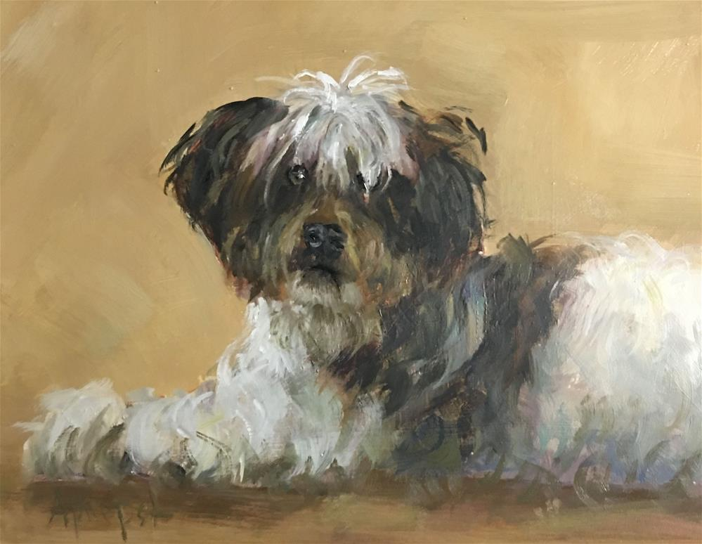 """Bandit"" original fine art by Anne Marie Propst"