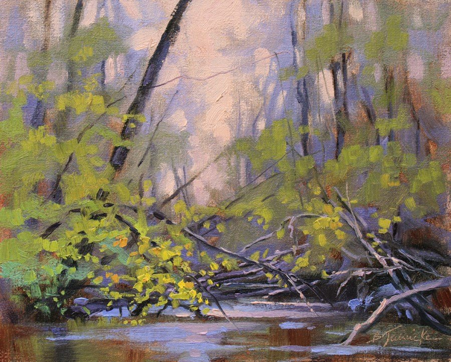 """A Little Spring Action"" original fine art by Barbara Jaenicke"