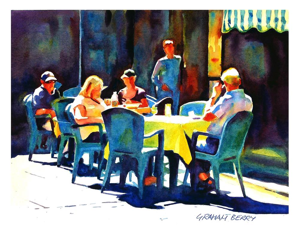 """Lunch in the sun."" original fine art by Graham Berry"