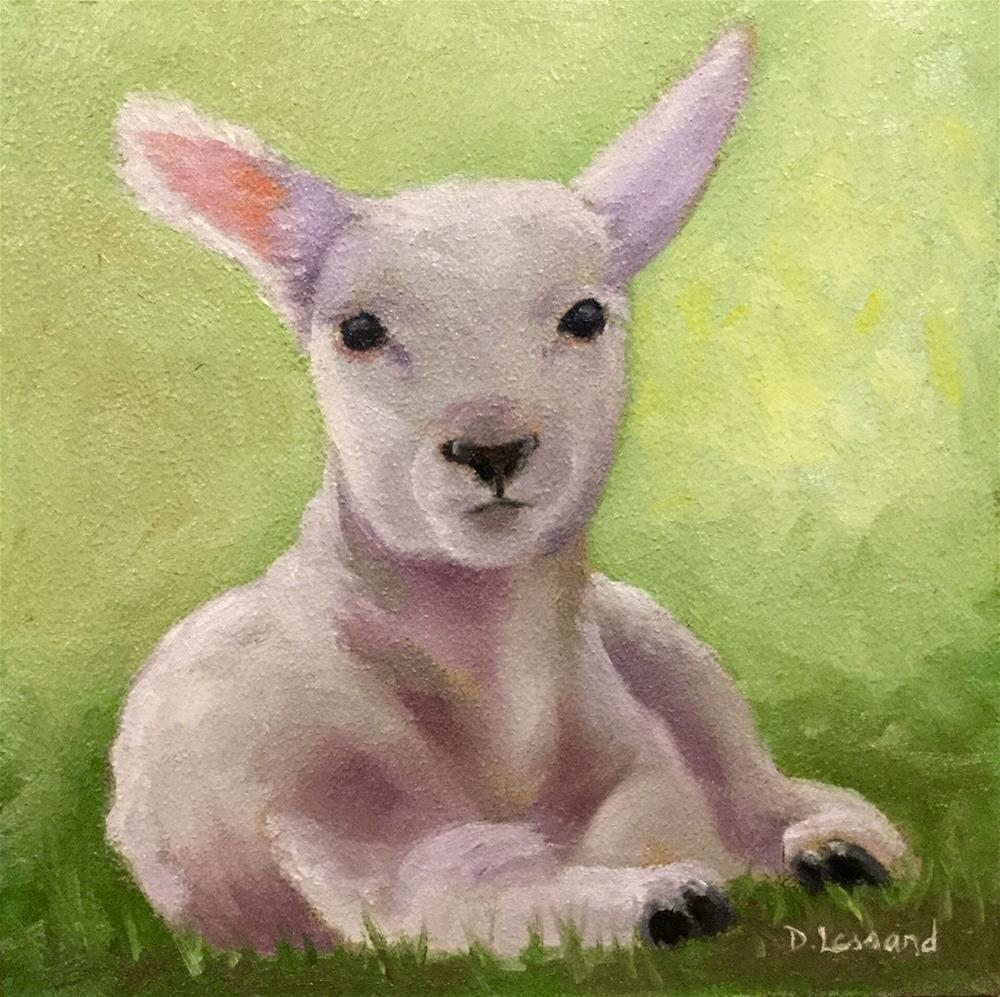 """Lambkin #1621"" original fine art by Dee Lessard"