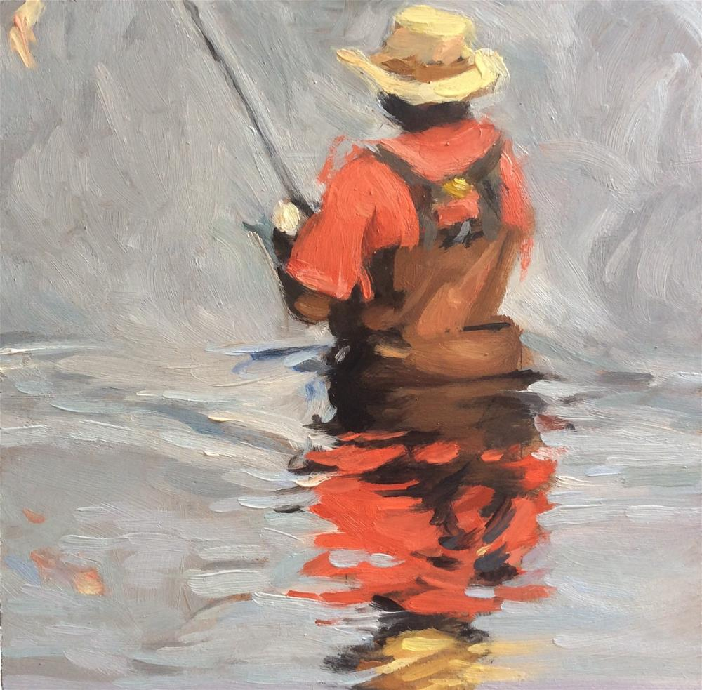 """Fishin'"" original fine art by Paula Howson-Green"